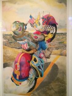 Santa Fe Rider by Robert Cenedella