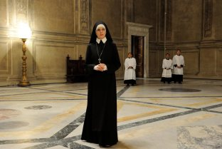 """set of """"The young Pope"""" by Paolo Sorrentino.10/22/2015 sc. 264 ep. 2In the picture Dyane Keaton.Photo by Gianni Fiorito"""