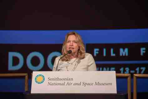 National Air and Space Museum Director Ellen Stofan discusses ABOVE AND BEYOND_ NASA'S JOURNEY TO TOMORROW during AFI DOCS 2018. Credit_ Gediyon Kifle