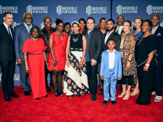 The Berry Family on the red carpet at the 50th Nashville Film Festival (Photo courtesy of NashFilm)