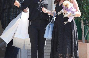 Lisa Rinna and Lisa Vanderpump leaving Hollywood Hatters