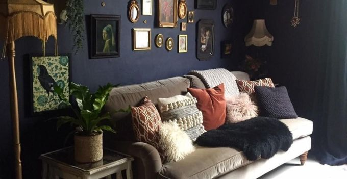 Casual Gothic Living Room
