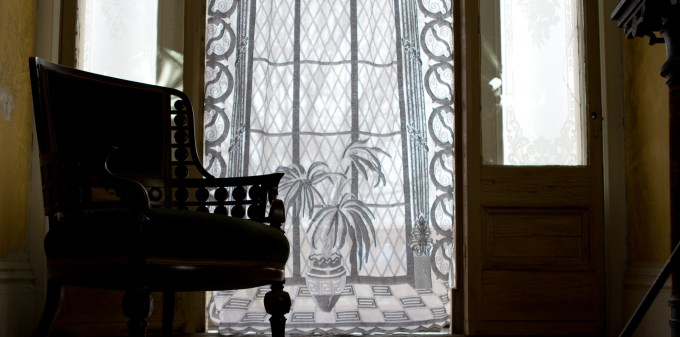 Gothic Living Room with White Lace