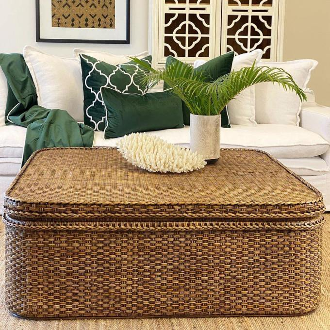 The Rattan Lovers Square Coffee Table