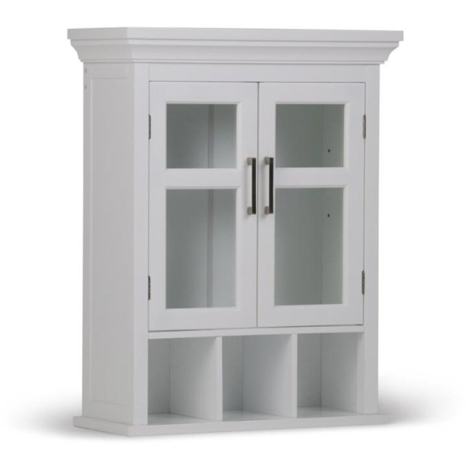 Two Door Wall Cabinet with Cubbies