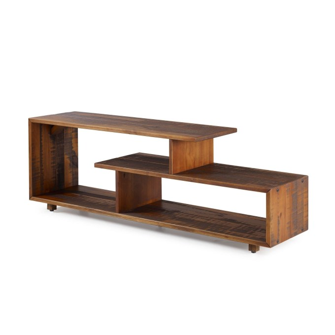 Side Staging solid wood tv stand