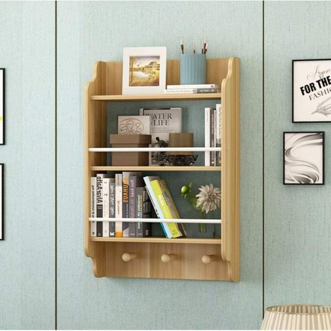 bookshelf with anchors and bracket