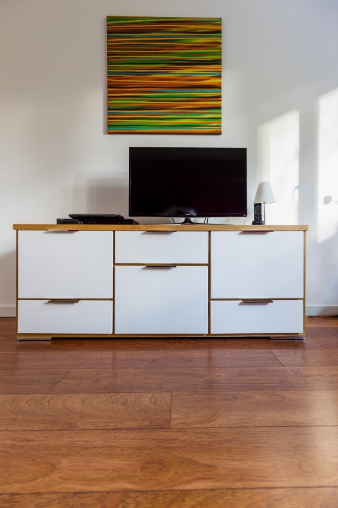 Laminated Wood TV Stand