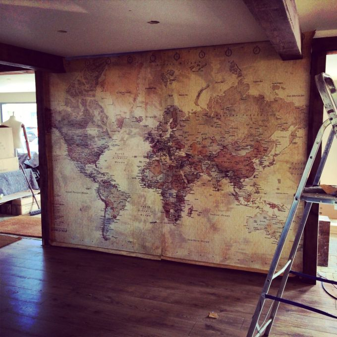 Old Maps on the Wall
