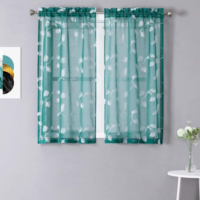 Teal Curtains for Kitchen