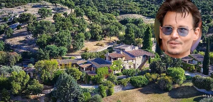 Spectaculaire dronebeelden! BINNENKIJKEN op het Zuid-Franse landgoed (met café en kapel) van JOHNNY DEPP dat hij verkoopt met een KORTING van 24 MILJOEN!