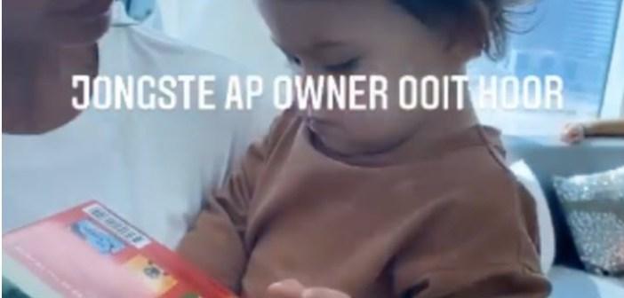 Lil Kleine geeft zoontje Lio Zion (1) horloge van 20.000 euro cadeau