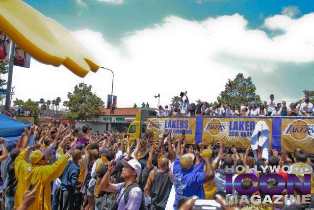 LA Lakers Championship Parade By JB Brookman-27 Team Trophy