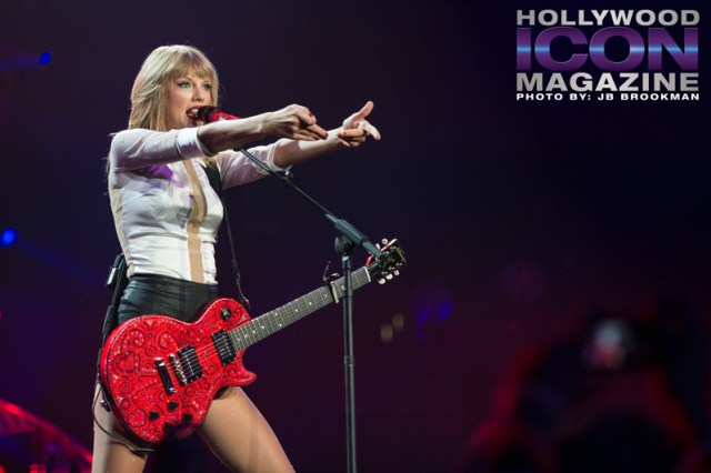 Taylor Swift at Staples Center in LA.  Photo: JB Brookman