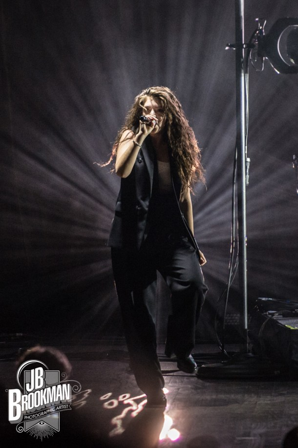 Lorde performs at her sold out Nashville performance at The Grand Ole Opry.  Photo: JB Brookman