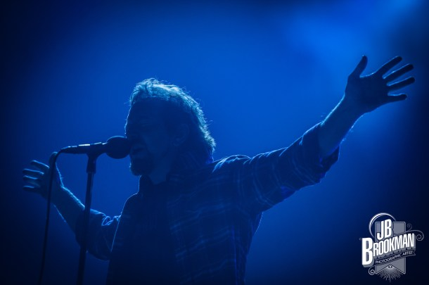 Eddie Vedder of Pearl Jam, performs at FedEx Forum in Memphis.  Photo: JB Brookman Photography