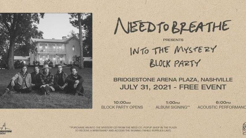 NEEDTOBREATHE free block party at Bridgestone Arena Nashville