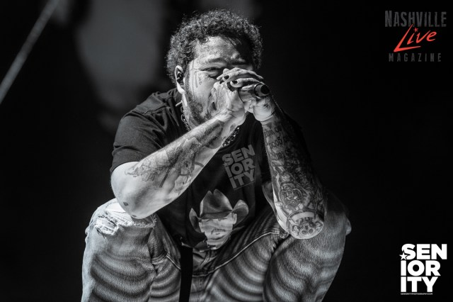 Post Malone at Bridgestone Arena in Nashville Photo by JB Brookman Seniority Photography