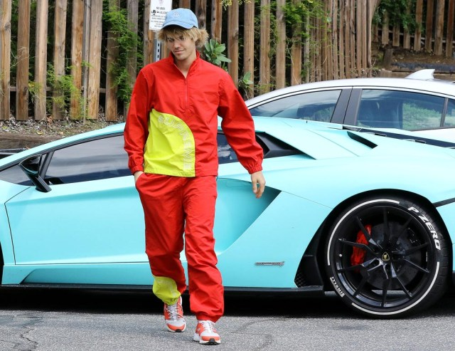 Justin Bieber Justin Bieber out and about, Los Angeles, USA - 24 Mar 2018 WEARING SUPREME
