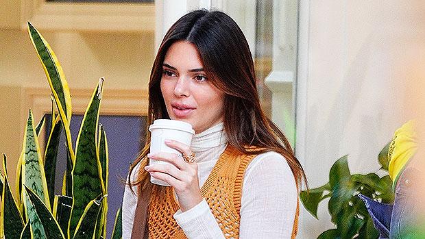 Kendall Jenner Enjoys Coffee In A Robe & K Louis Vuitton Slippers – Gadget Clock