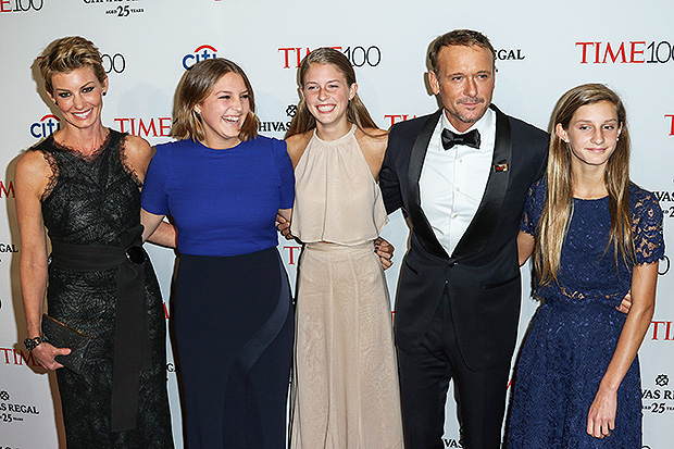 Tim McGraw, Faith Hill & Family