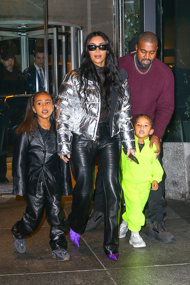 Kim Kardashian, Kanye West, North West, Saint West