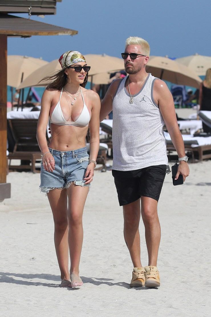 Scott Disick & Amelia Hamlin in Miami