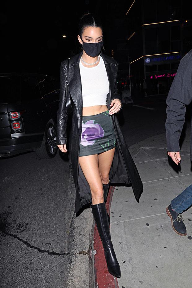 13 Stars Wearing Jackets Longer Than Their Mini Skirts & Shorts: Hailey Baldwin & More