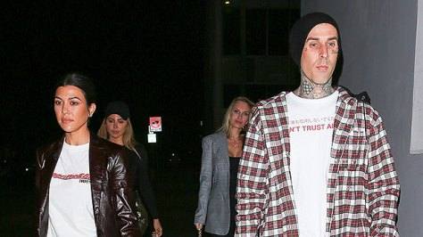 Kourtney Kardashian & Travis Scott Sweetly Hold Hands In Never-Before-Seen Pics From Her Birthday