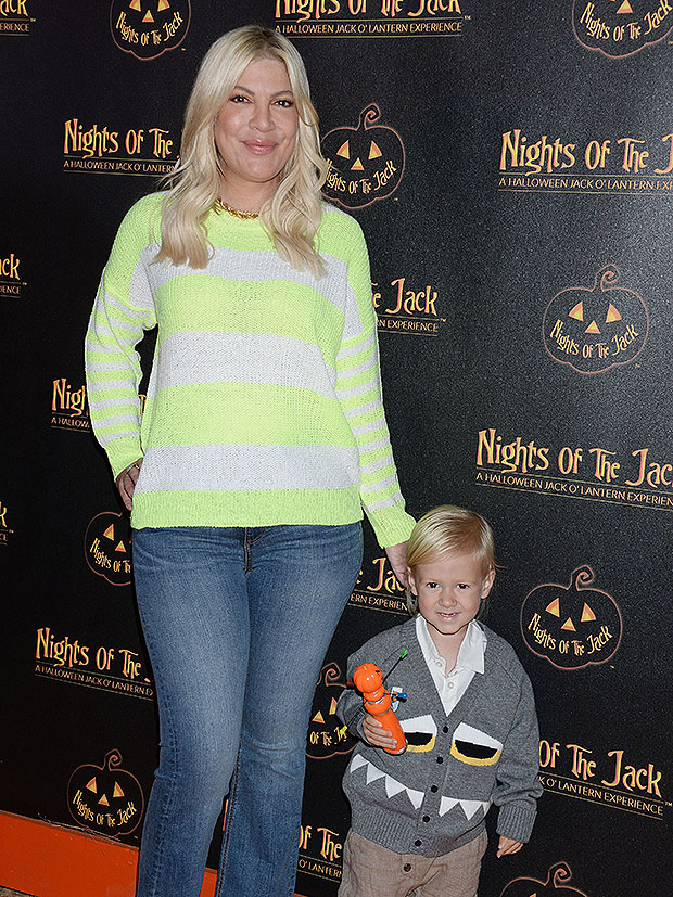 Tori Spelling and son Beau