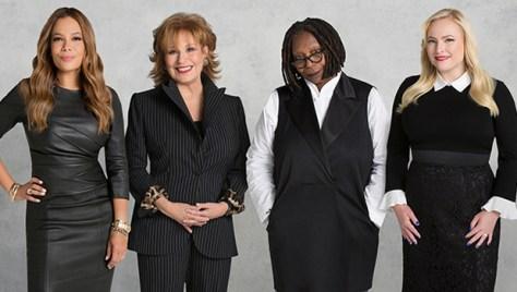 Sunny Hostin, Joy Behar, Whoopi Goldberg, Meghan McCain