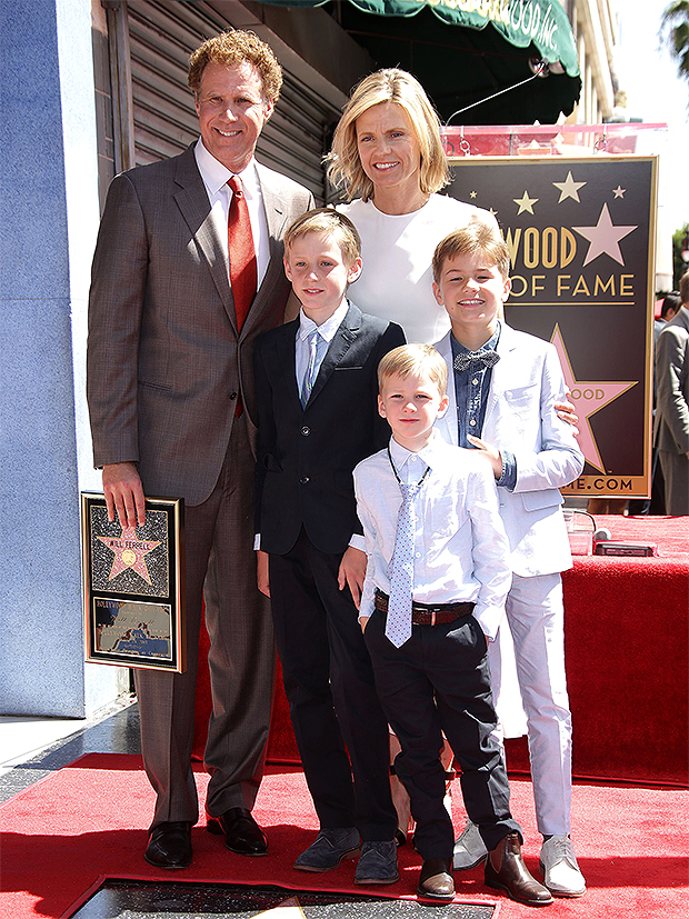 Will Ferrell, Wife & Three Sons