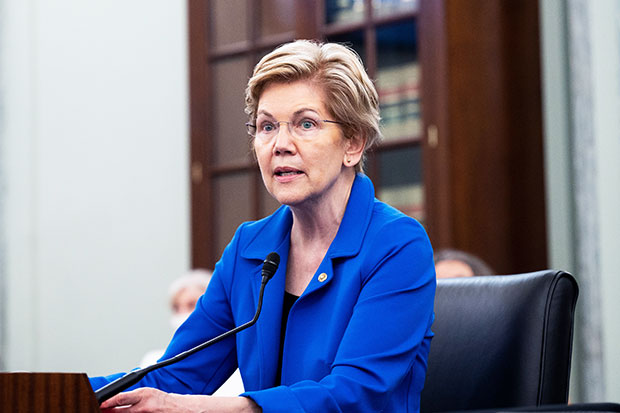 senator elizabeth warren on the view shutterstock embed