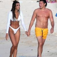 Вито Шнабель, бывший любовник Хейди Клум и Эмбер Херд, наслаждается отдыхом на пляже с моделью Philipp Plein Мадалиной Дианой Генеей в Сент Барт.