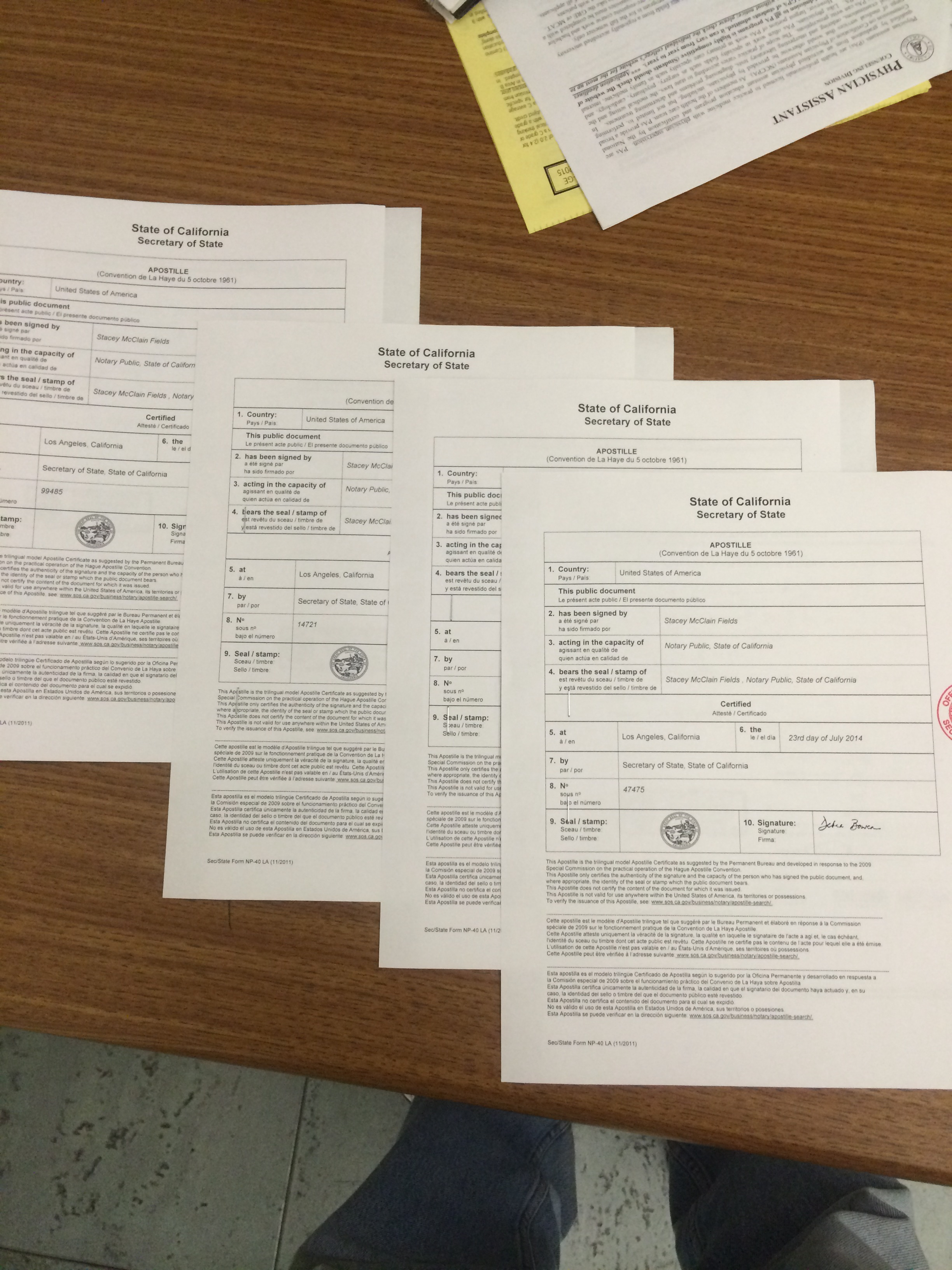 15 Common Documents For Apostille Or Authentication Hollywood