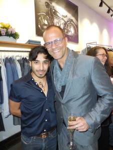 Jared with Charlie Choukair, co-owner of his eponymous boutique