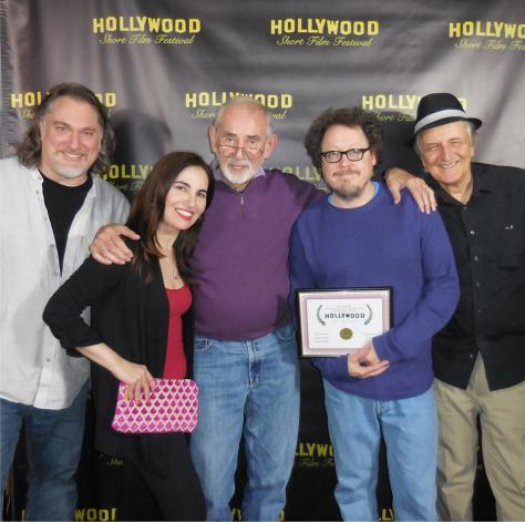 From left to right: Allan Jacobsen of Nickelodean Animation, HPC's Vida G., legendary voiceover casting director Wally Burr, Dominic and voiceover artist Paul Gregory. Photo courtesy of Vida G.