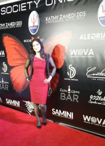 Prominent entertainment attorney Nadia Davari on the red carpet. Photo courtesy of HPC