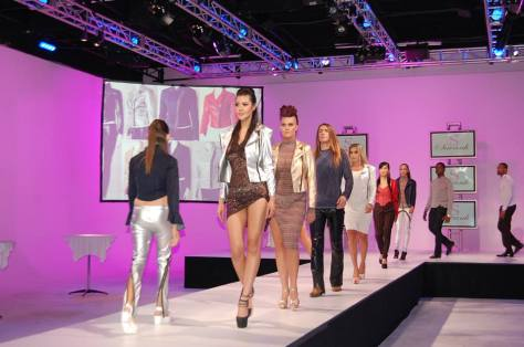 Model Struts down the runway