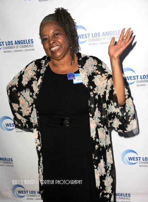 Actress Reatha Grey waves to the cameras. Photo courtesy of Albert L. Ortega/GettyImages