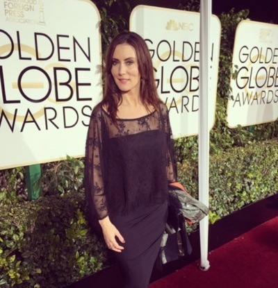 Leni shines on the red carpet of the Golden Globes