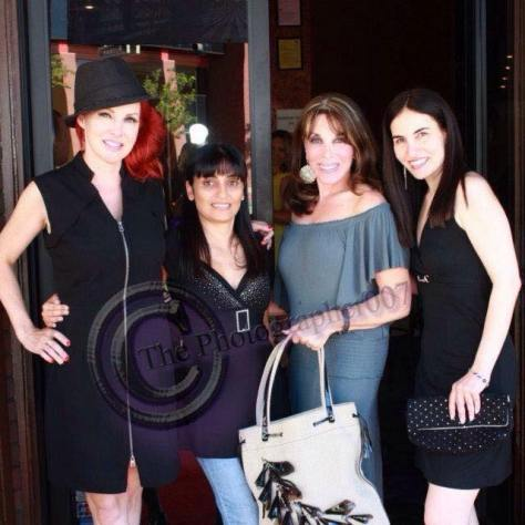 Gretchen Bonaduce, Arsineh, Kate Linder and myself. Photo courtesy of Bernard Hinson