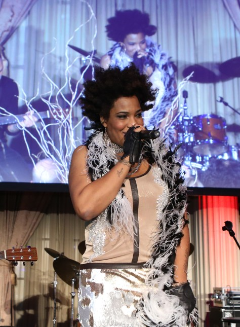 Mega-talented singer Macy Gray sings for the crowd with her wonderful voice