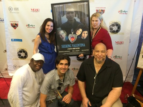 Seeking Valentina cast and crew with some industry luminaries like King Bassey, Founder of the Los Angeles Nollywood Film Awards, writer-director Armin Nasseri, Del Weston, Founder of the Action on Film Festival with myself and actress-producer Kristin West
