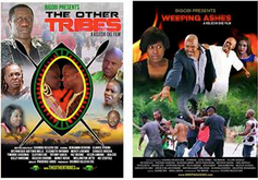 "Posters for Eke's ""The Other Tribes"" and ""Weeping Ashes"""