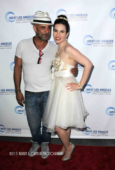 Vida with noted actor Anthony Azizi. Photo courtesy of Albert L. Ortega/GettyImages
