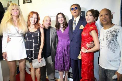 Actors Laurene Landon, Lisa London, actor-filmmaker Thomas J. Churchill, actor and journalist HPC's Vida G., actors Mel Novak, Amy Shi, and Ewart Chin