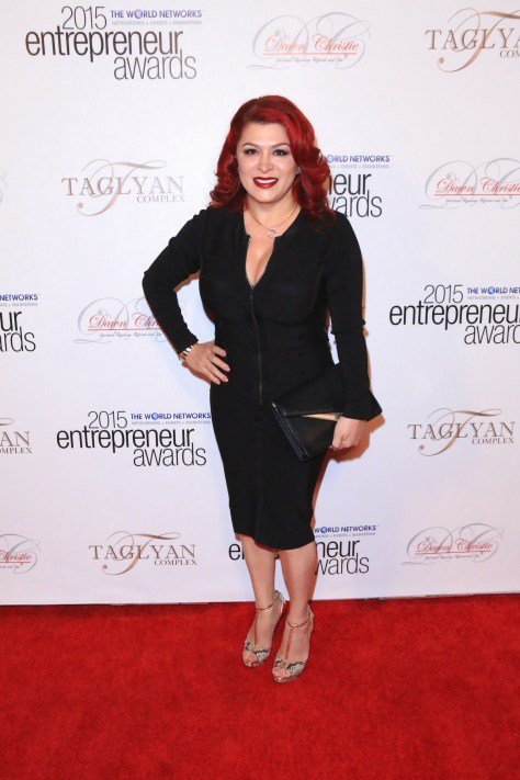 Honoree Ruby Polanco, the founder and CEO of Ruby Beauty Academy