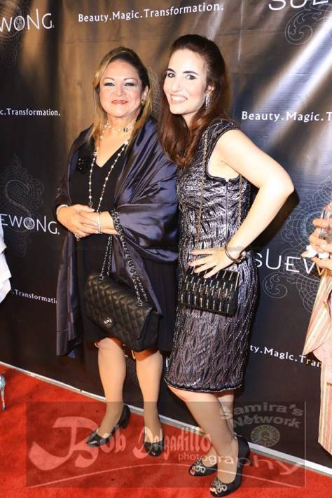 Your truly with Faith on the red carpet at renowned fashion designer Sue Wong's estate. Photo courtesy of Bob Delgadillo