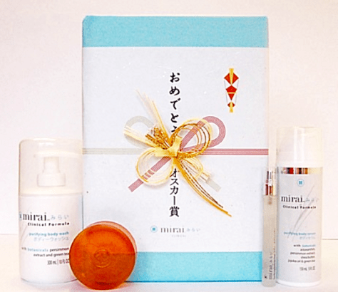 Mirai Clinical was honored to have its body care collection selected for inclusion at the 2-16 Ultimate Nominee Gift bag, which was given to this year's Oscar nominees and A-List presenters
